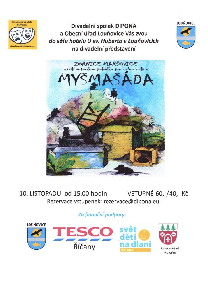Divadelní představení proděti - Myšmašáda